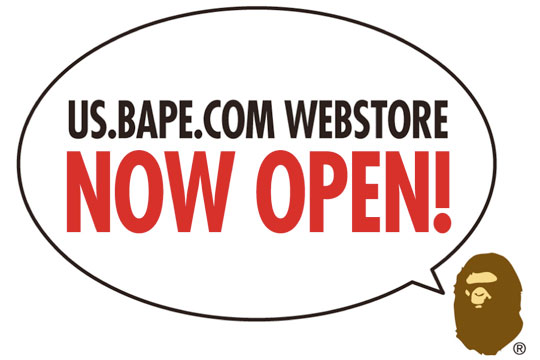 BAPE shop is online !